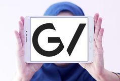 GV , Google Ventures logo. Logo of GV , Google Ventures on samsung tablet holded by arab muslim woman . GV, formerly Google Ventures, is the venture capital Royalty Free Stock Photography