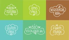 GVO und Gluten geben, Bioökologisches frei, natürlich Stockbild