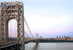 GW Bridge and Manhattan Royalty Free Stock Photography