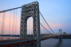 GW Bridge from NJ Royalty Free Stock Photo
