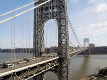 GW Bridge View. A wide view of the George Washington Bridge between New Jersey and New York city Stock Photography