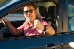 Gwałtowny kierowca Fotografia Royalty Free
