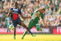Gwałtowny vs Paryż St Germain Obraz Royalty Free