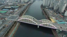 Gwajeonggyo-Brücke Feb-10-2018 stock video footage