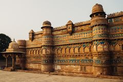 Gwalior fort in Madhya Pradesh, India