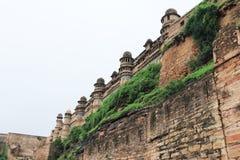 Gwalior målade fortet Indien Arkivfoto