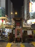 Gwan Gung Temple alla rivoluzione dell'ombrello in Monkok, Hong Kong Fotografia Stock