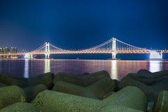 Gwangan-Brücke Lizenzfreies Stockbild