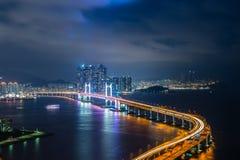 Gwangan-Brücke von oben stockfoto