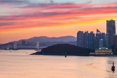 Free Gwangan Bridge And Skyline Of Haeundae In Busan, South Korea Royalty Free Stock Photo - 211431355