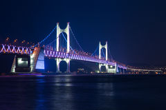 The Gwangan Bridge, Busan, South Korea. Stock Photos