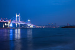 The Gwangan Bridge, Busan, South Korea. Royalty Free Stock Photos