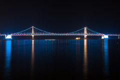 The Gwangan Bridge, Busan, South Korea. Royalty Free Stock Photo