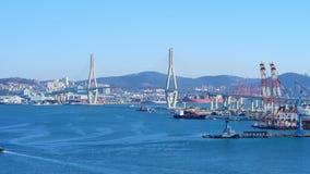 Gwangan Bridge and Haeundae aerial view at Sunrise, Busan, South Korea. stock video footage