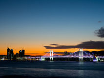 Gwangan Bridge at sunset Royalty Free Stock Image