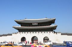 Gwanghwamun Gate 광화문 in Seoul, South Korea. Main gate of Gyeongbokgung Palace stock photo