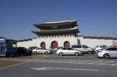 Gwanghwamun gate at Gyeongbokgung Palace downtown Seoul stock photography