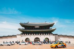 Gwanghwamun gate of Gyeongbokgung Palace in Seoul, Korea stock photo