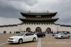 Gwanghwamun gate of Gyeongbokgung palace in Seoul South Korea Royalty Free Stock Images