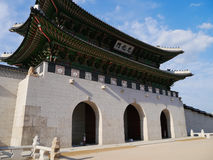 Gwanghwamun Gate. Is the main gate of Gyeongbokgung Palace in Seoul, South Korea Stock Photography
