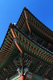 The Gwanghwamun Gate Roof. Shoot of Gwanghwamun Gate, Seoul, South Korea Royalty Free Stock Photo