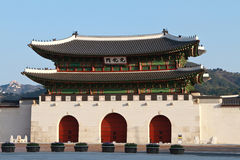 Gwanghwamun Gate in Seoul, South Korea Royalty Free Stock Photography