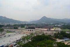 Gwanghwamun i Seoul Royaltyfria Foton