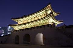 Gwanghwamun (la conduttura ed il portone del sud) Immagine Stock Libera da Diritti