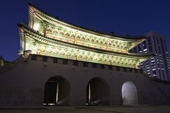 Gwanghwamun (la porte principale et du sud) Photographie stock libre de droits
