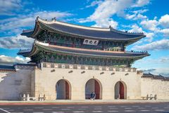 Gwanghwamun, main gate of Gyeongbokgung Palace royalty free stock images