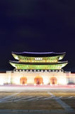 Gwanghwamun main gate at night in Seoul Royalty Free Stock Images