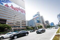Gwanghwamun plaza traffic Royalty Free Stock Photography
