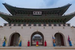 Gwanghwamun arkivbild