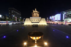 Gwanghwamun Square in Seoul, Korea Stock Photo