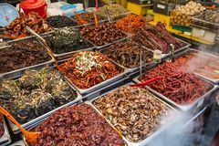 Gwangjang Market in Seoul Stock Photos