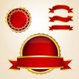 gwaranci czerwoni faborków znaki Obrazy Royalty Free
