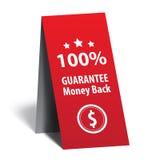 Gwarancja pieniądze plecy Fotografia Royalty Free