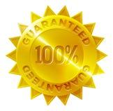 Gwarantowana 100 procentów złotego medalu ikona Zdjęcia Stock