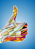 gwarantowany mozaiki satysfakci kciuk gwarantowany vector Obrazy Stock