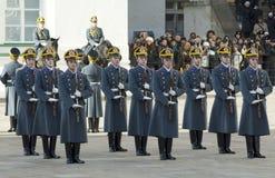 Gwardie prezydenckie w rzędzie Obraz Royalty Free