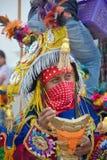Gwatemalski fiesta Zamaskowani tancerze Zdjęcie Stock