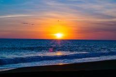 Gwatemalski Plażowy zmierzch fotografia royalty free