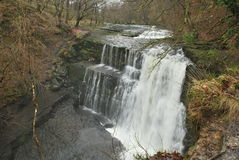 Gwaun Hepste vattenfall Royaltyfri Bild