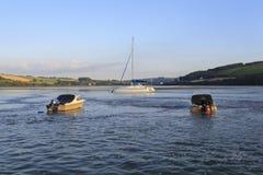 Gwbert och den Teifi breda flodmynningen Arkivfoton