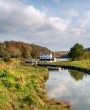 Gweek nära Helston i Cornwall Arkivbild
