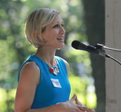 Gwenn Aspen speaks at Tea Party Rally Stock Photography