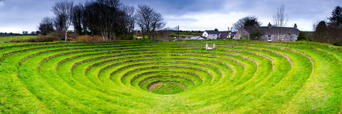 Gwennap Pit. Is an open air amphitheatre, near Redruth in Cornwall England Stock Photo
