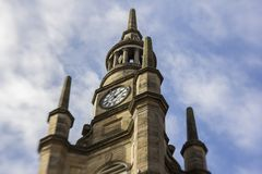 Clock tower in the city of Glasgow. stock image