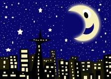 gwiaździsta miasto noc royalty ilustracja