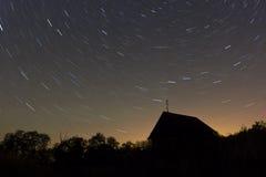 gwiaździsta noc Fotografia Royalty Free